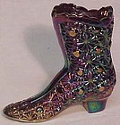 Fenton Carnival Boot on Plum