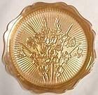 Jeannette Iris Sandwich Plate, irridized