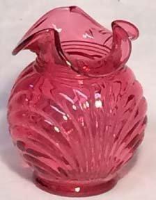 """Fenton Cranberry Caprice 4.75"""" Vase"""