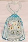 Fenton Light Blue, Handpainted Mini Bell