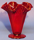 "Fenton Red Sheffield 6"" Vase"