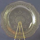 "Federal Glass Company Patrician 11"" Dinner Plate, Amber"