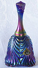 Fenton Blue Carnival Temple Bell