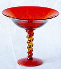 Tiffin Twisted Stem Compote in Sunset