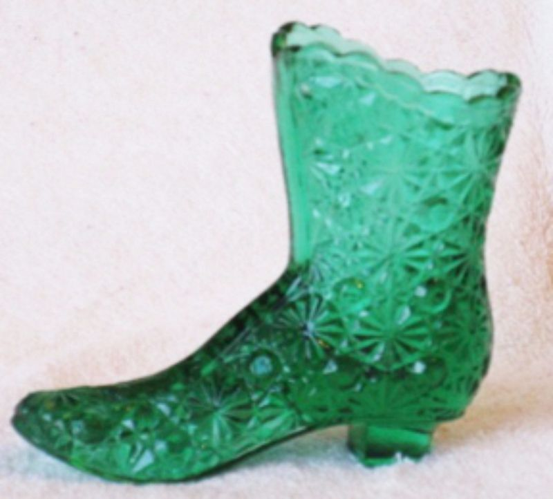 Fenton Spring Green Daisy & Button Boot