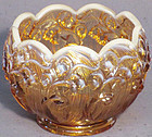 Fenton Amber Opalescent Lily of the Valley Cupped Vase