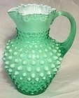 Fenton Cased Apple Green Hobnail Jug
