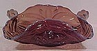 Fenton Waterlillies & Cattails Amethyst Squared Bowl