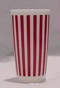 Hazel Atlas Red Candy Stripe Tumbler
