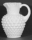 Fenton Hobnail Milk Glass Syrup