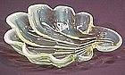 Duncan & Miller Sanibel small tray, Vaseline Opalescent