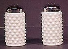 Fenton Hobnail Shakers Milkglass (pair)