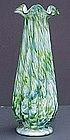 "Fenton Vasa Murrhina Blue/Green Adventurine 14"" vase"