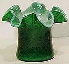 Fenton Ivy Green Hat Vase