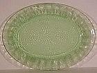 "Jeannette Floral 10.25"" Platter, Green"