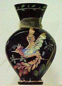 "Fenton Black Vase ""Rainforest"", Centennial Collection"
