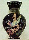 "Fenton Black Vase ""Rainforest"", Centennial Collection"