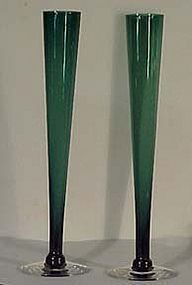 "Tiffin Kilarney Green 10.5"" Bud Vase"