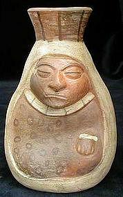 Moche Old Woman Vessel