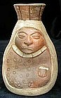 Moche Old Woman Vessel