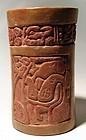 Maya Carved Cylinder