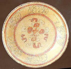 Maya Polychrome Plate