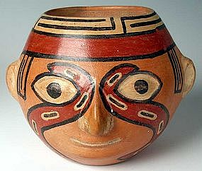 Huari Portrait head