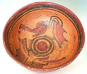 Maya Avian Deity Bowl