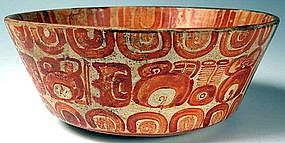 Maya Polychrome Bowl