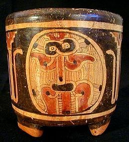 Mayan Polychrome Tripod