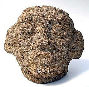 Costa Rican Stone Trophy Head
