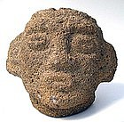Costa Rican Stone Trophy Head