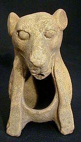 Mayan Canine Incensario