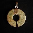 Neolithic Jade Slit Ring Disc