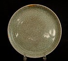 Qing Crackle Glazed Plate