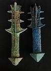 Han Bronze Sword Handles