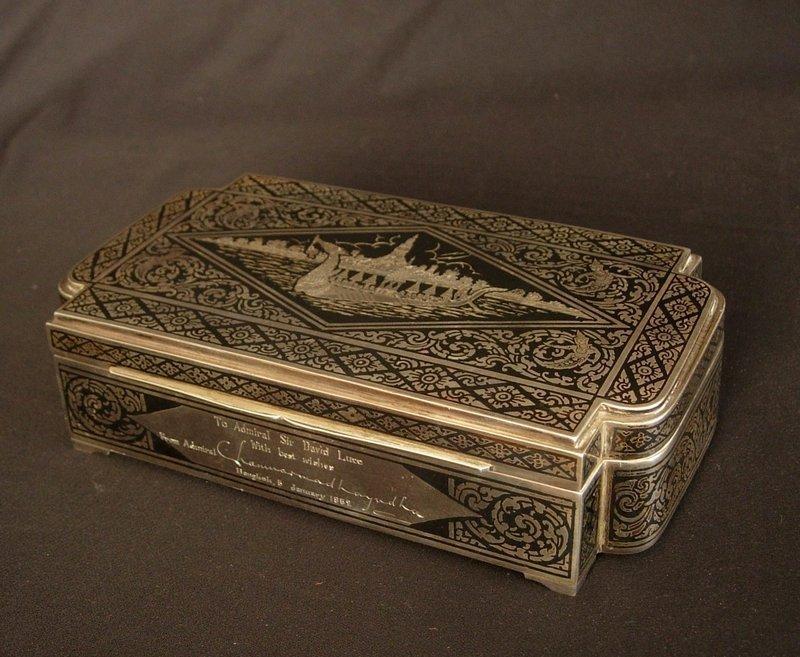 Niello Thai Silver Box