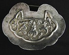 Chinese Silver Lock Charm