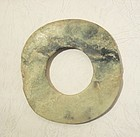 Neolithic jade disc