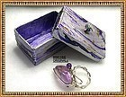 Signed Sterling Silver Bold Bypass Handwrought Ring Box