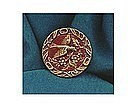 Vintage Antique Victorian Picture Button Perfume Bird