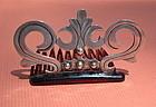 Vintage Pre Assay Silver Hecho en Mexico Metalwork Comb