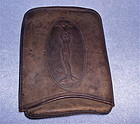 Antique Victorian Art Nouveau Lady Cheroot Cigar Leather Case