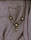 Vintage Coral Festoon Silver Filigree Necklace C 1910