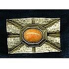 "Arts & Crafts Hammered Pin Sash Ornament ""C"""