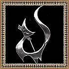 Modernist Signed Sterling Stylized Cat Pin
