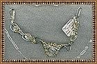 Signed Sterling Silver Sculpture Bracelet Set Spirals