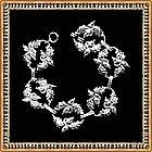 Vintage Art Deco Danecraft Acorn Link Bracelet