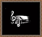 Leonore Doskow Ring Musical Note Sterling