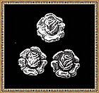 Vintage Felch & Co Sterling Brooch & Earring Set Rose